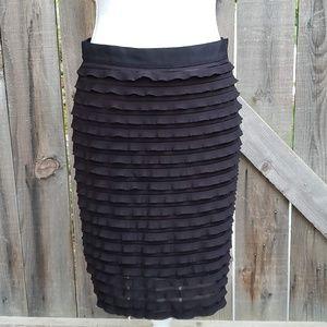 Banana Republic Stretch Chiffon Layer Pencil Skirt